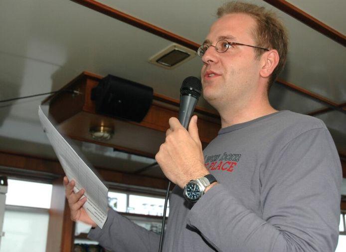 Tom De Vries als schepen, in 2005.