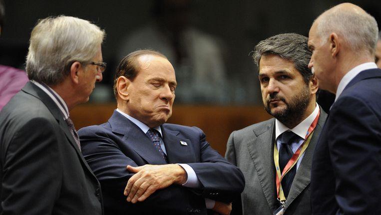 De Italiaanse premier Silvio Berlusconi op de euro-top Beeld afp