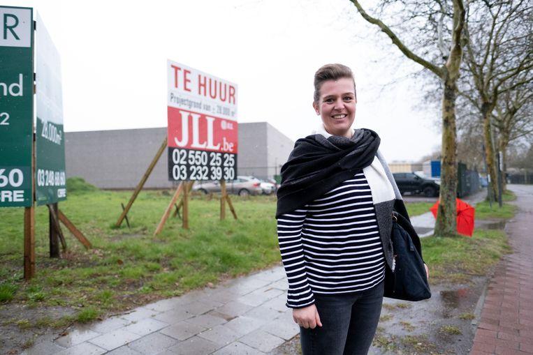 Wendy Adriaensen maakt zich zorgen om de plannen met de projectgrond naast Huyghebaert.