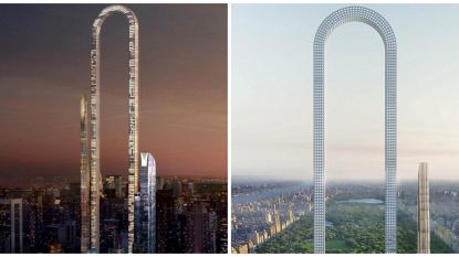 Wolkenkrabber in New York met spectaculaire boog: 'The Big Bend' kan langste gebouw ter wereld worden