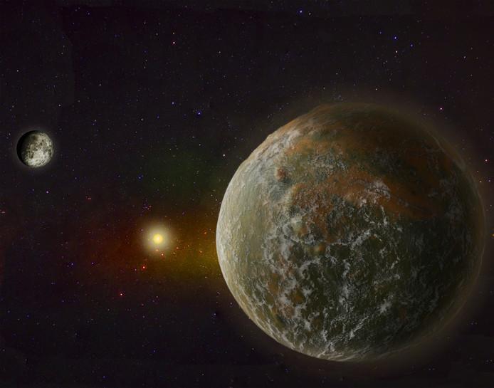 Nieuwe planeet ter illustratie