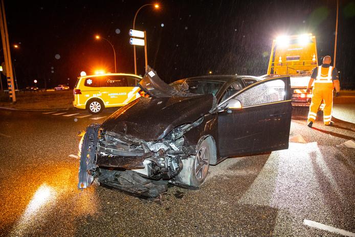 Het ongeluk vond plaats op IJsselallee in Zwolle.