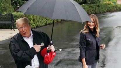 """""""Trump deelde zijn paraplu één nanoseconde met zijn vrouw. Wat een gentleman!"""""""