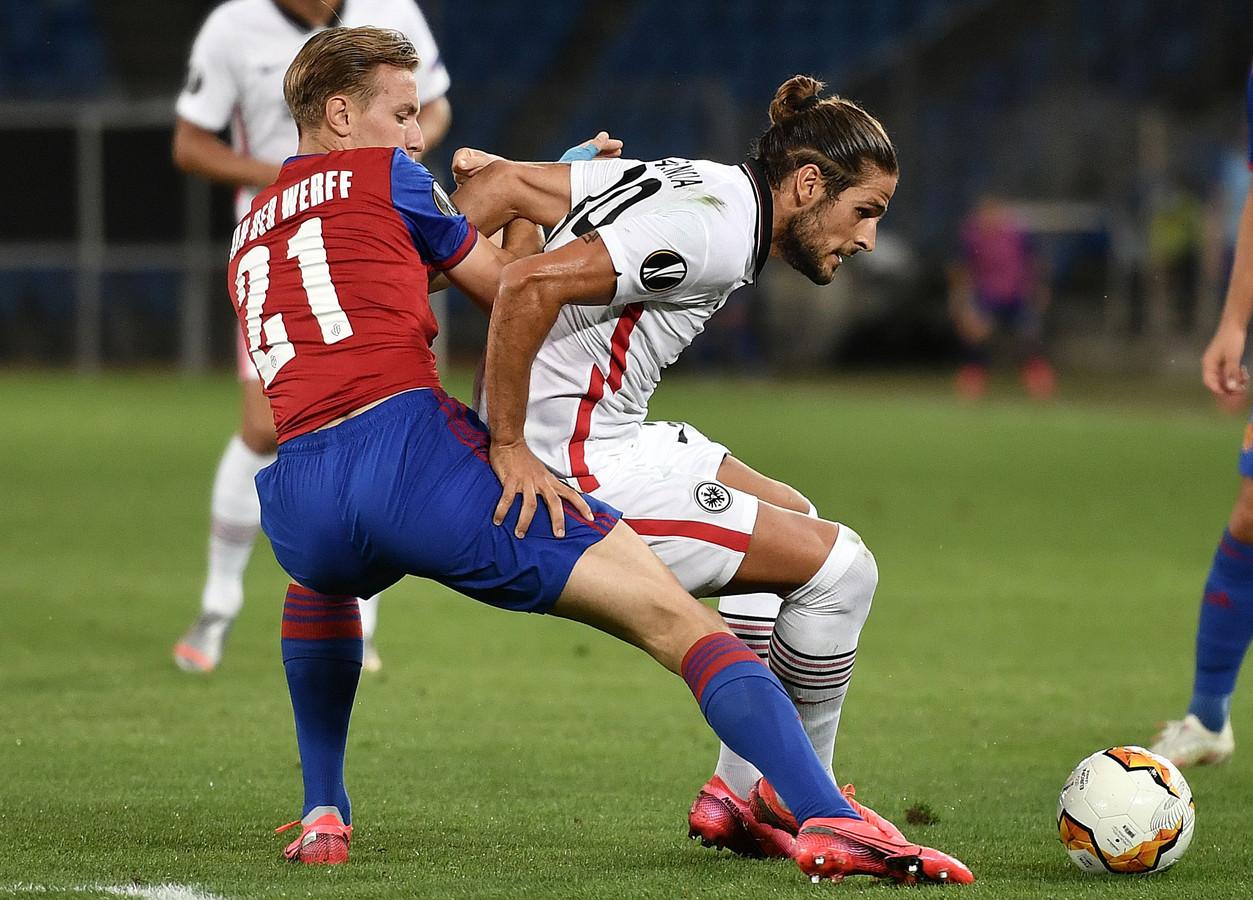 Jasper van der Werff tegen Eintracht Frankfurt.