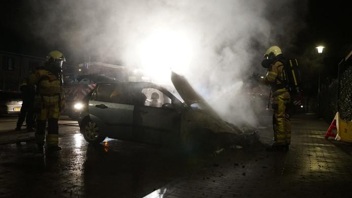 Autobrand in Deventer.