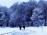 Sneeuw kleurt regio wit