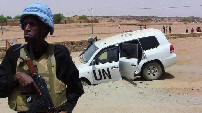 Archieffoto van een eerdere aanslag op VN-soldaten in Mali.
