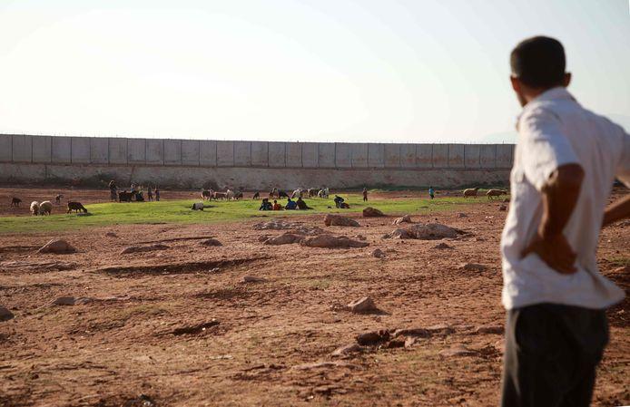 La frontière entre la Syrie et la Turquie, dans la région d'Idleb.