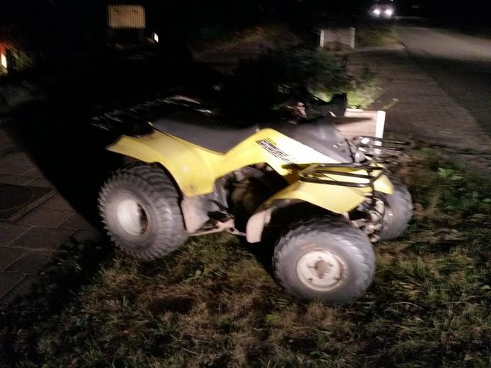 De quad waarop de jongen door Haaften reed.