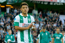 Ritsu Doan als aanvoerder van FC Groningen twee weken geleden.