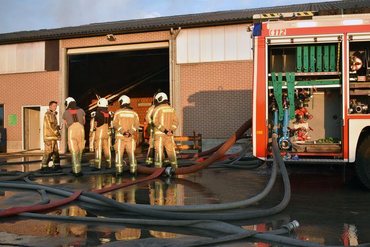 De brand ontstond wellicht in drooginstallatie.