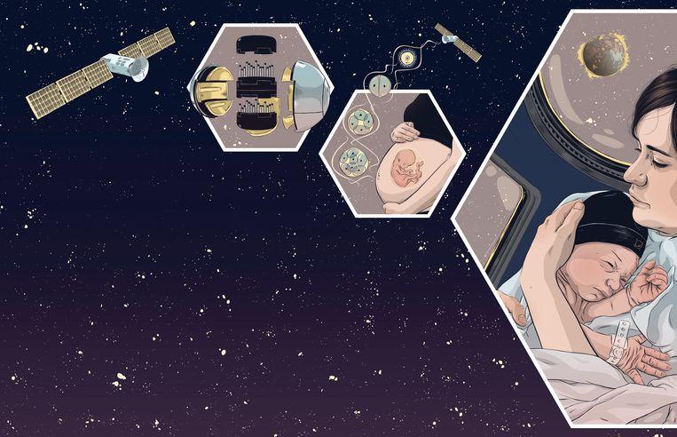 Geboorte in de ruimte Beeld Alexandra España