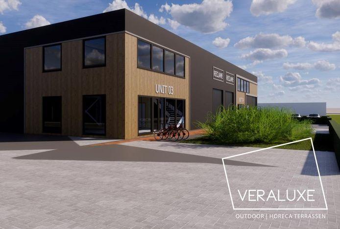 Veraluxe laat een nieuw gebouw neerzetten aan de Industrieweg in Elst.