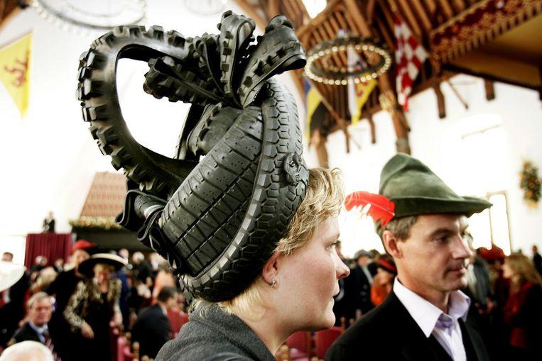 SP-Kamerleden Krista van Velzen en Harry van Bommel tijdens Prinsjesdag 2005. Beeld anp
