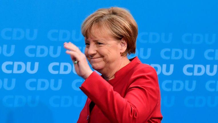 Angela Merkel wil opnieuw bondskanselier worden. Beeld afp
