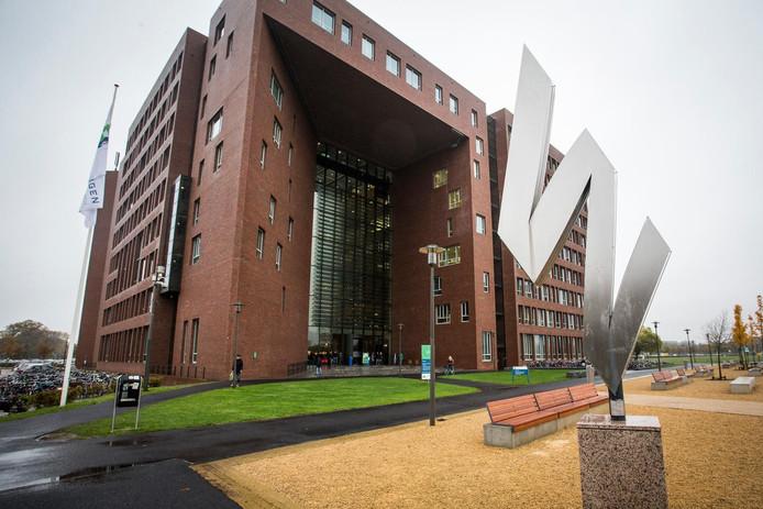 Eén van de gebouwen van de universiteit van Wageningen.
