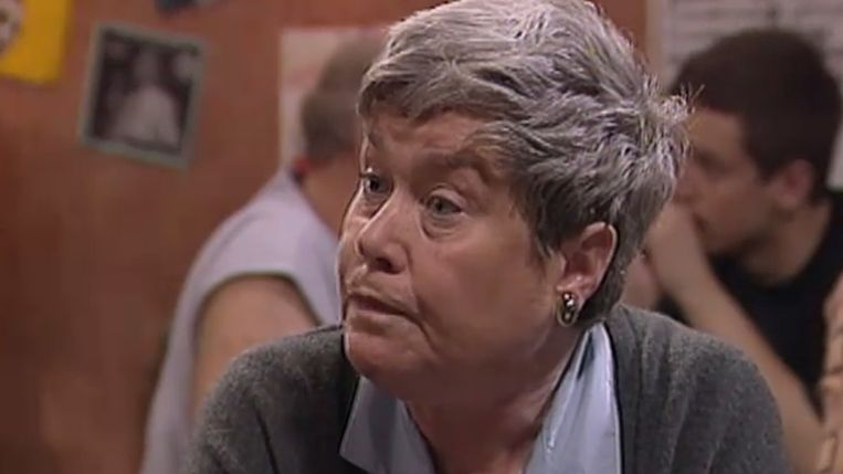 Paula Sleyp aan het werk in 'Wittekerke'.