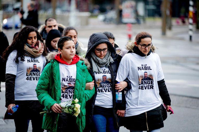 Een stille tocht voor de vermoorde 23-jarige Nabil Amzieb Beeld anp