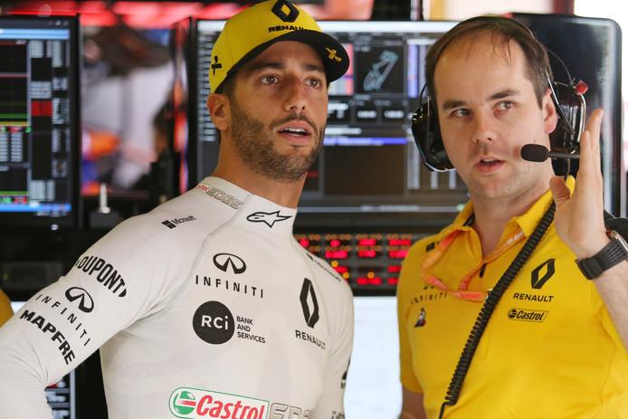 Karel Loos met Daniel Ricciardo.