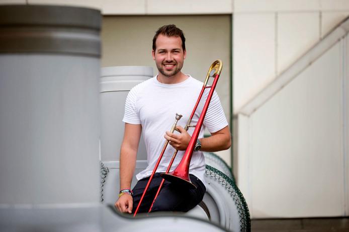 Trombonist Remco de Bont uit Oosterhout.