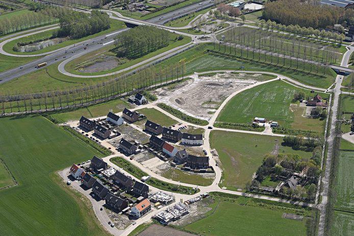 De wijk Steegsche Velden in Best in aanbouw.