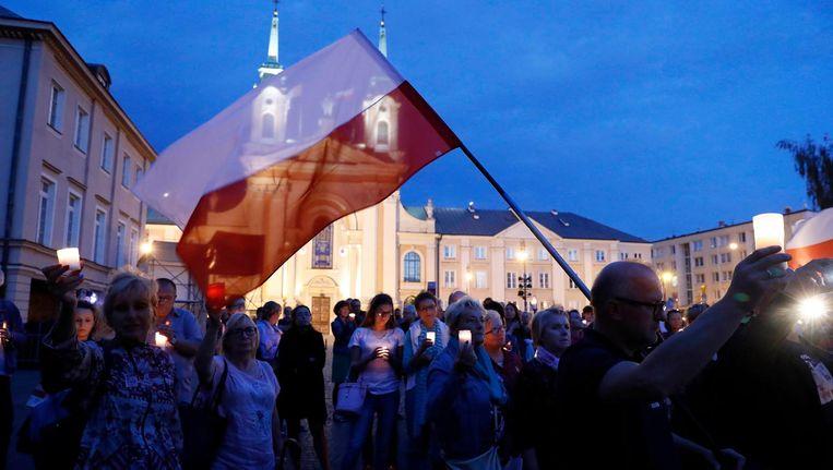 Pools protest tegen juridische hervormingen. Beeld reuters