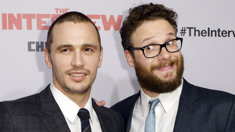 Hoofdrolspelers James Franco (links) en Seth Rogen. Beeld reuters