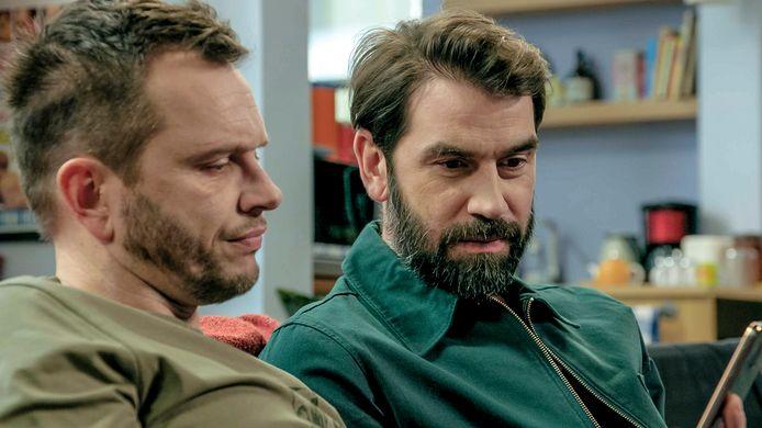 Maxime De Winne (Quinten) & Jeroen Van Dyck (Tony) in 'Familie'.