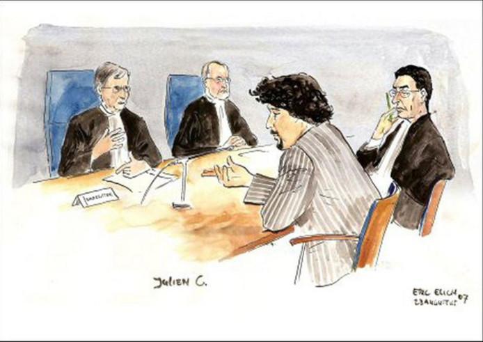 Julien C. zal volgens zijn advocate vandaag zelf bij de behandeling van zijn zaak aanwezig zijn.