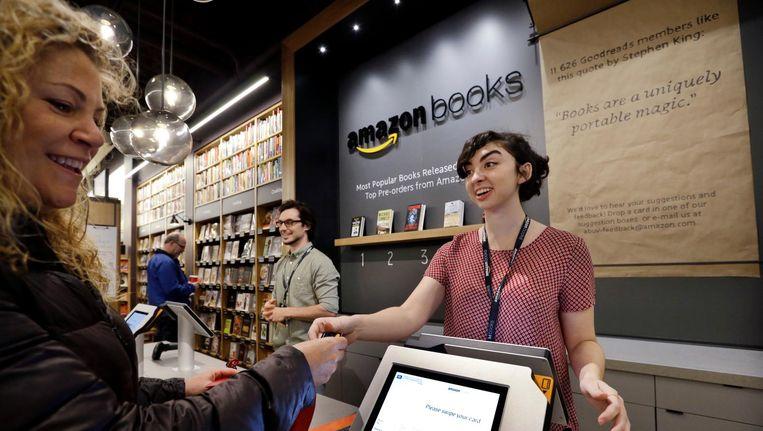 Boekwinkel van Amazon in het Amerikaanse Seattle. Beeld ap