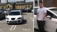 """Fabio parkeert zijn Seat vierdubbel, omdat hij niet wil dat """"idioten zijn dure auto beschadigen"""""""