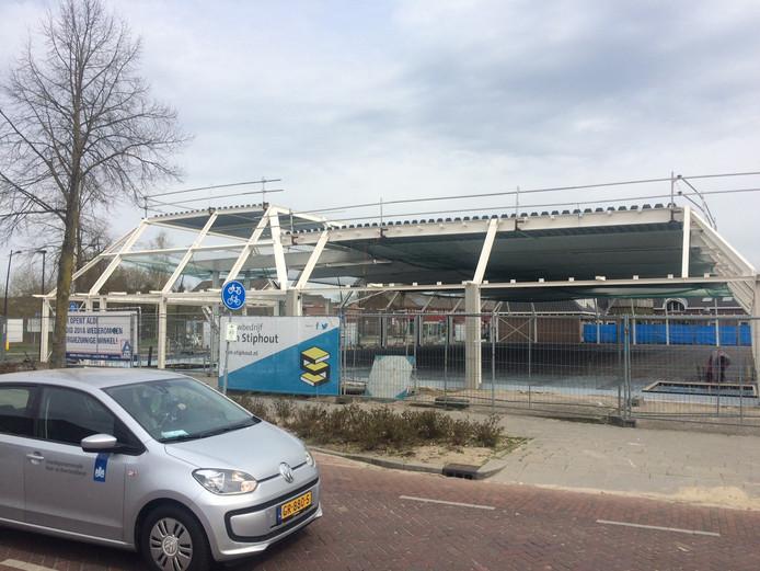 De nieuwe Aldi aan de Bitswijk staat er al voor een groot deel maar de bezwaren blijven.