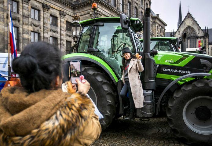 De boeren voerden in december al actie in de Amsterdamse binnenstad tegen het stikstofbeleid.