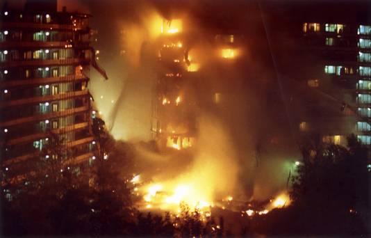 De vuurzee bij de flats  Groeneveen en Klein-Kruitberg