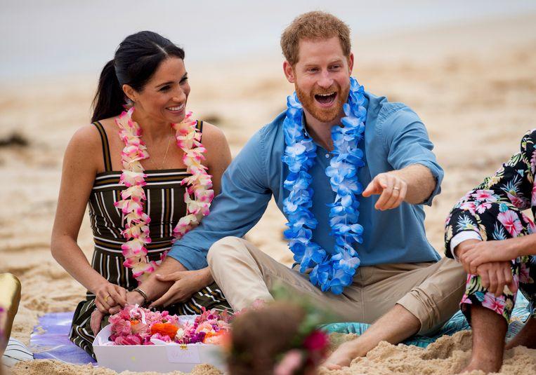 Harry en Meghan zijn klaar met vier Britse tabloids. Beeld AP