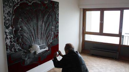 Kunst in appartement op 20ste verdieping Europacentrum