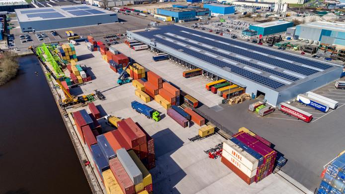 Containerterminal van Westerman Logistics in Hasselt.