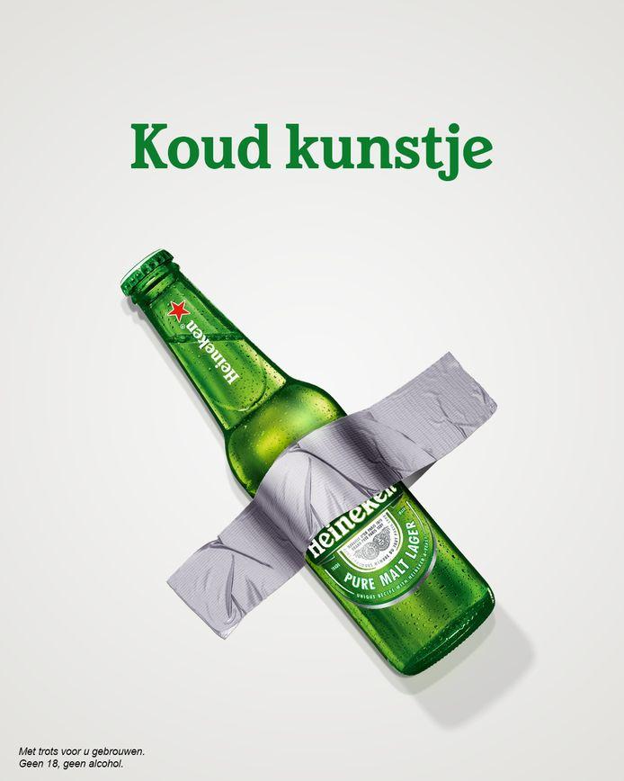 Persiflage van Heineken op Cattelan