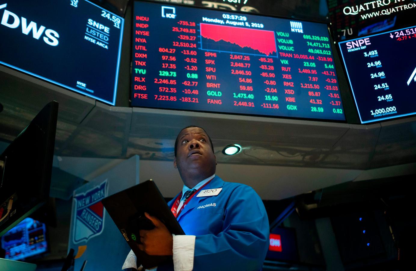 Amerikaanse aandelenbeurzen doken maandag in het rood.