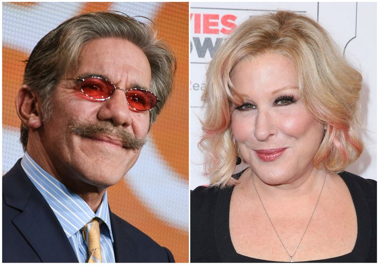 Geraldo Rivera en Bette Midler