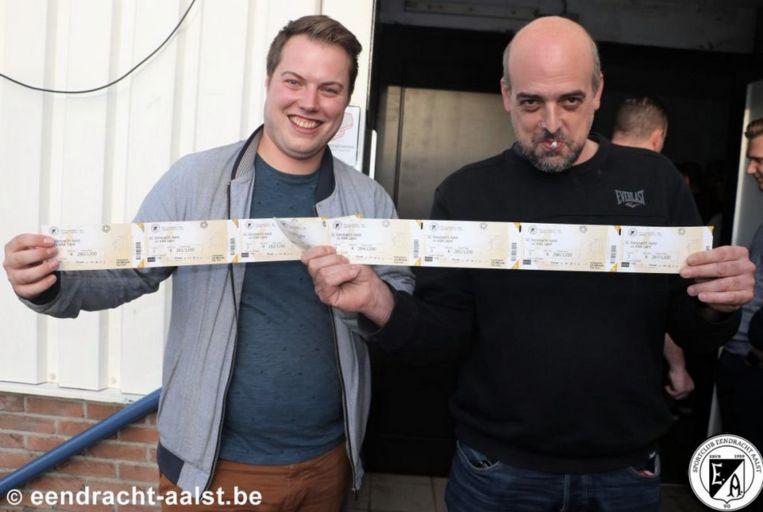 Er was een stormloop voor de tickets van de wedstrijd Eendracht tegen AA Gent.