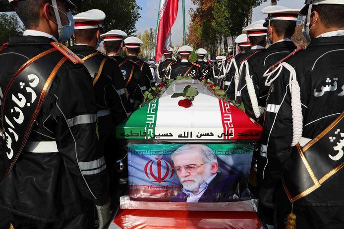 De begrafenis van Mohsen Fakhrizadeh, gisteren.