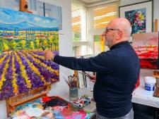 Schilder Louis Baeten uit Westerhoven brengt muziek naar het doek tijdens Meesterlijk Hollands