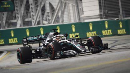 Hamilton snelste in tweede vrije oefensessie GP Singapore, eerder op de dag maakten Bottas en Leclerc brokken