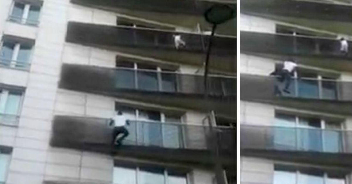 vader van kind 4 dat aan balkon bengelde in parijs veroordeeld tot drie maanden. Black Bedroom Furniture Sets. Home Design Ideas