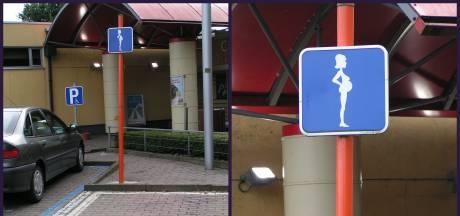 Extra grote parkeerplaatsen voor zwangere vrouwen en gezinnen op Kuiperplein Ede