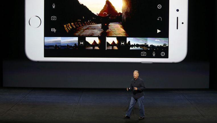 Phil Schiller, de senior vice-president marketing van Apple. Beeld Reuters