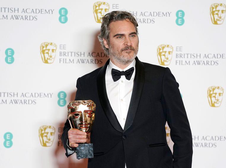 Joaquin Phoenix won een Bafta voor 'The Joker', maar vond het nogal gênant. Beeld EPA