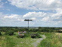 Van het hoogste punt op de Vlagheide geniet de familie Fransen uit Wijbosch van het uitzicht over de regio.