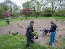 Bloemenlabyrint in het paradijs in Belmonte Wageningen